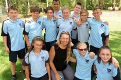BCS Year 7 students with Year Advisor Ms Georgina Cunich.