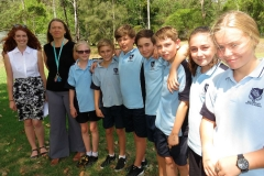 BCS Teacher Ms Megan Henry, Year Advisor Ms Georgina Cunich with Year 7 students Zoe Egginton, Camran Bailey, Ethan Pinch, Ryver Fitzgerald, Michael Lewis-Ayliffe, Tyleya Dungay and Annee-Rose Perry.