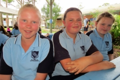Rosey McMahon from Tea Gardens, Tahlia Tomkins from Bulahdelah and Shayla Nevinson from Coolongolook.