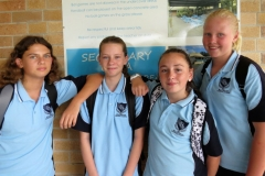 Piper Matenga, Abbie Smith, Tyleya Dungay and Rosey McMahon.
