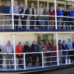 Tea Gardens Grange residents on boat