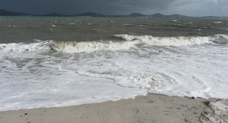 Hawks Nest Beach decimated