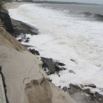 Wild weather at Hawks nest beach