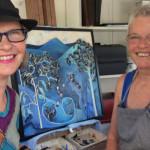 Louise Young and Christina du Fresne at Bulahdelah War Memorial Trust Hall