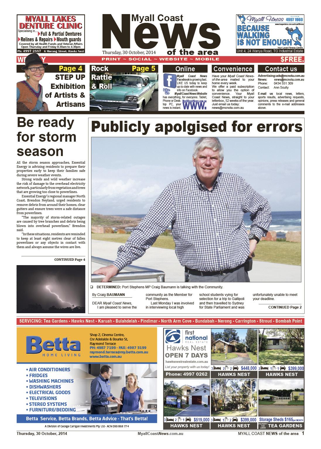 Myall Coast News 30 October 2014