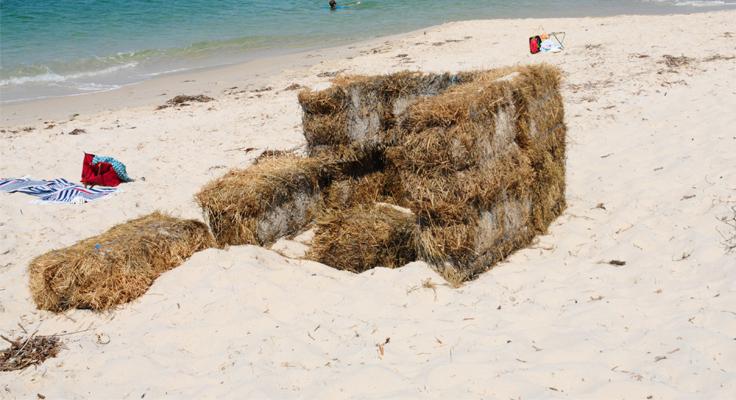 Jimmys Beach hay bales