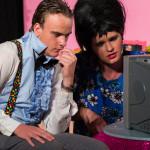 Joshua Campbell (Wilbur Turnblad) and Kai McNally (Edna Turnblad)