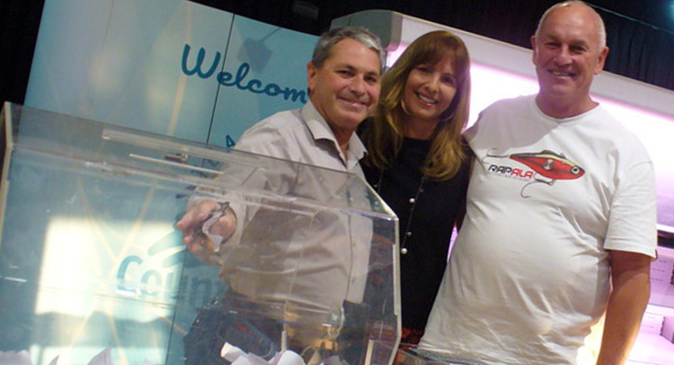 Warren Gooley, Maria Bennett of Sports Events and the consolation winner Michael Johnson