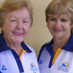 Club Novice Consistency Championship players, Pam Gilchrist and winner Sheril Johnson