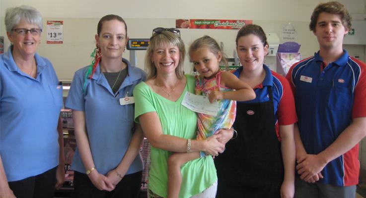 Anita Pinkerton Julie Hill Sonya Laird holding a preschooler Shyleigh Sofie Dorney and Matthew McKendry.jpg