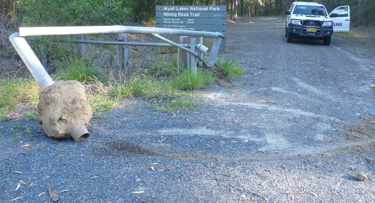 Myall Lakes National Park vandalism