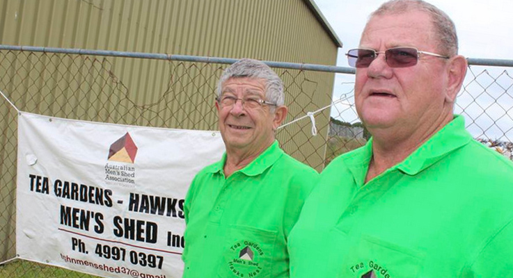 IanTea Gardens Mens Shed Robinson and Peter Webb