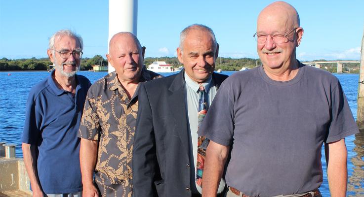 Peter Pritchard, Gordon Grainger, Deputy Mayor Len Roberts and Dave Glynn