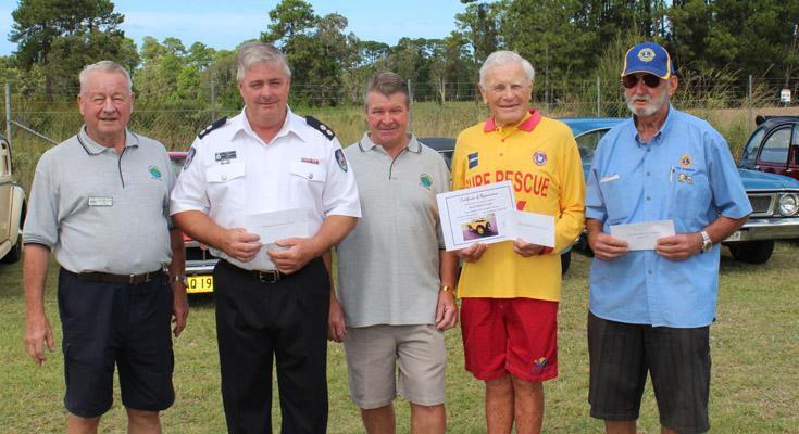 Juergen Seil, Captain Steve Carmichael, Ross Anderson, Ian Dunlop and John Adams.