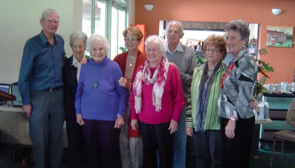 Adrian Ryan, Beth Williams, Pauline Cole, Shirley Pearson, Dawn Dale, Rex Dale, Carolyn Seymour and Jean Ryan.