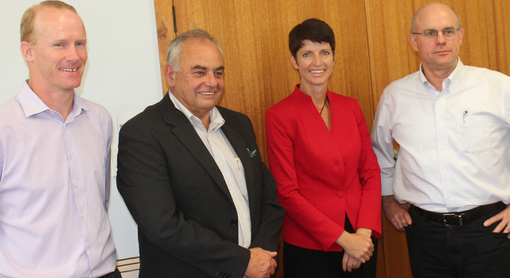 Robert Fish, Len Roberts Kate Washington and Brigadier Darren Naumann