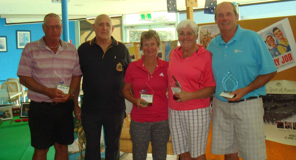 Bruce Clayton, (Ray Prigg, Sec. RSL), Janet Moore, Trish Sattler and Steve Sattler.