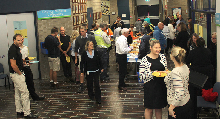 Great Lakes Council morning tea