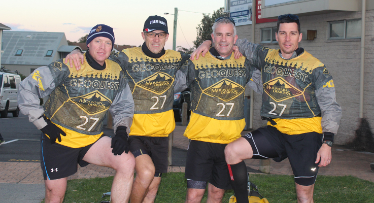Team Navy comprising of Steve Arney, Ray Winkler, Gary Holgate and Cliff Kyle.