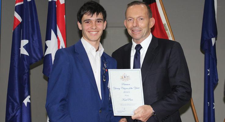Karl Price and Tony Abbott PM