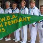 Two Karuah Women's Bowling grades take the Pennant Flags