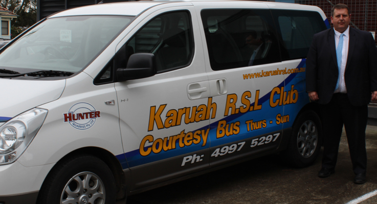 Ross Parr Karuah RSL and Courtesy Bus