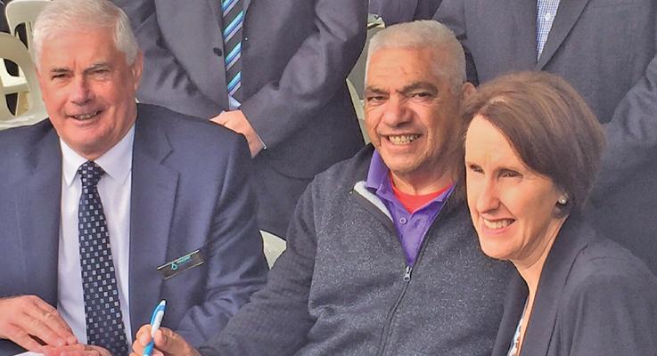Tony Summers, Vince Hall, Leslie Williams MP