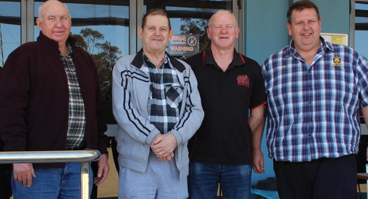 Fred McInerney, Peter Fidden, Ken Smee and Ross Parr.