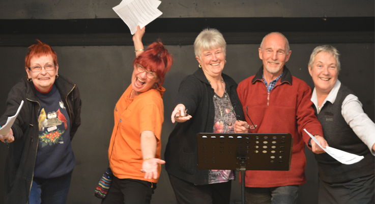 Liz Swane, Anne Rutter, Jan Green, Ian Elsholz and Director Elizabeth Deane