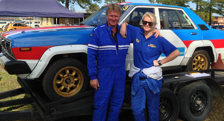 Scott McCloy driver and Bre McCloy navigator