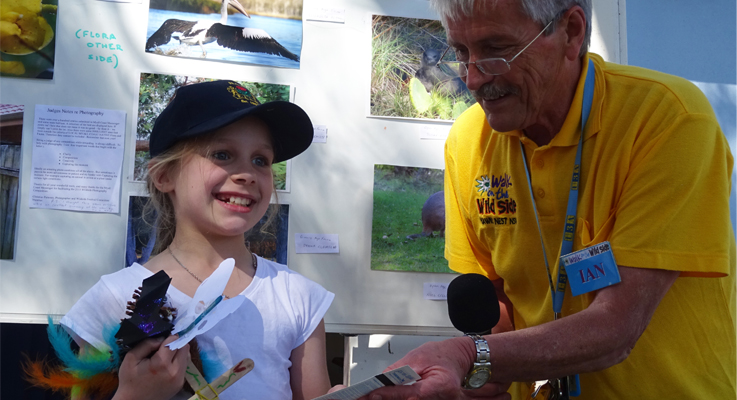 Monica Moore with Ian Morphett wins the Myall Coast News Lucky Kids Prize - Family Pass to the Zoo