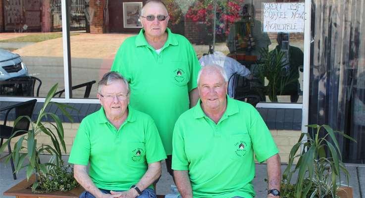 Colin Ayres, John Sells and Grant Hickey from Tea Garden Hawks Nest Mens Shed.