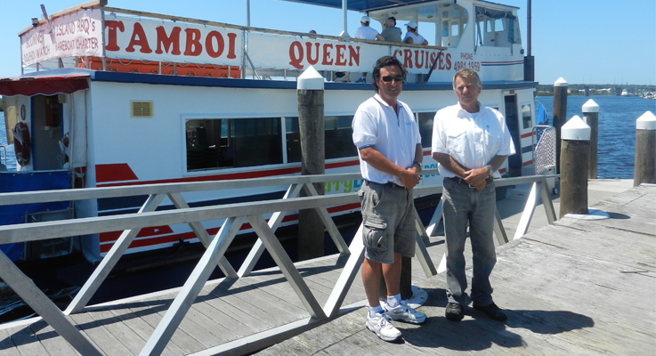 Daniel Aldridge and Ray Horsfield from Tamboi Ferry Service