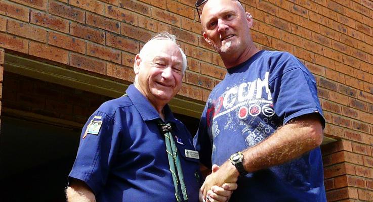 Stan Woodrow with Trevor Jennings.