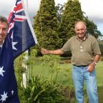 Dr David Gillespie gives Bulahdelah Golf Club a new Aussie Flag