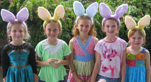 Claire Tufrey, Charlie Garemyn, Ruby Plummer, Lillian Jenkins and Jade Pickett are looking forward to Easter.