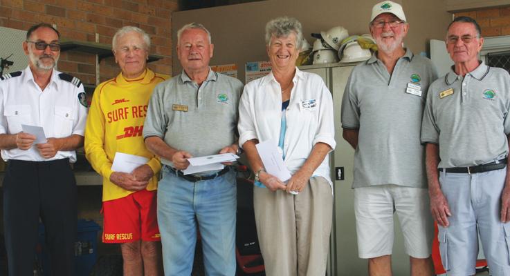 Hawks Nest Motor Club Cheque presentation