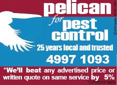 Pelican Pest Tea Gardens