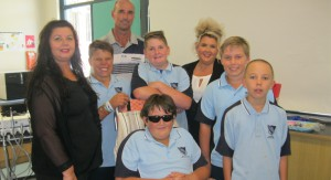 Jacob Allen, Dylan Powick, Scott Smith, Shannon Powick and Jonathan Hawes were amongst the first students to use the dental service with Oral Health Therapist Sharyn Primrose, Head Teacher Warren Jones and Dental Assistant Donna Lean.