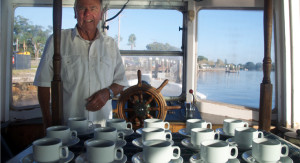 Ray Horsfield on the Wallamba aims to open up the river for locals and visitors.