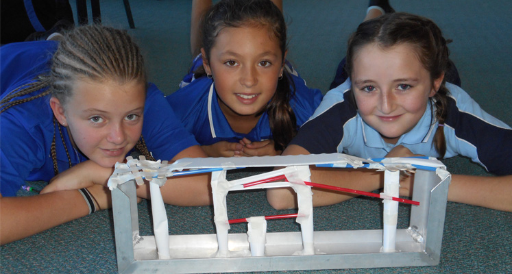 Bulahdelah Central School students Bridie O'Connell from Bulahdelah Maddi Tassell from North Arm Cove and Charlise Luxon