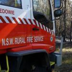 Medowie Rural Fire Brigade control Banjo trail blaze