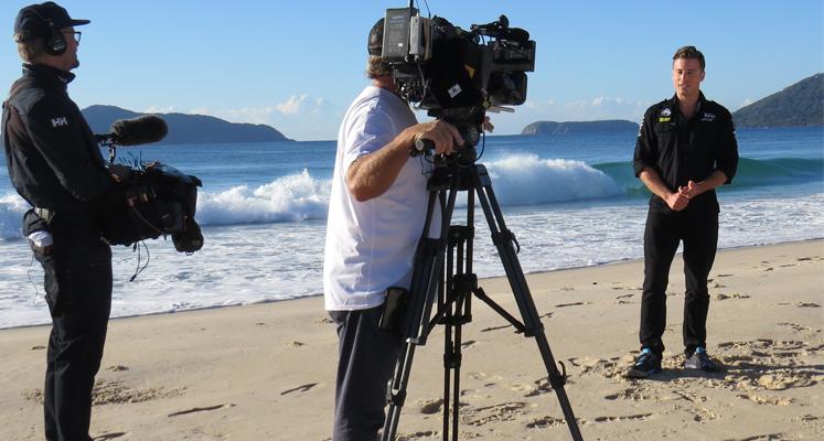 TV Sunrise crew filming in Hawks Nest