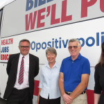 Peter Alley's Campaign Bus hits Tea Gardens