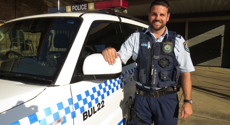 Senior Constable Ashley Ray at Bulahdelah Police Station