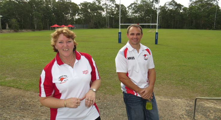 Karuah Rugby League Football Club Secretary Sonja Evans and Club Captain and Coach Dwayne Fleming are looking forward to the upgrades at Lionel Morten Oval.