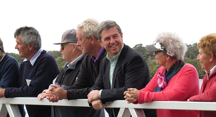Federal Member for Lyne Dr David Gillespie discusses the proposed upgrades to the waterfront area in Tea Gardens.