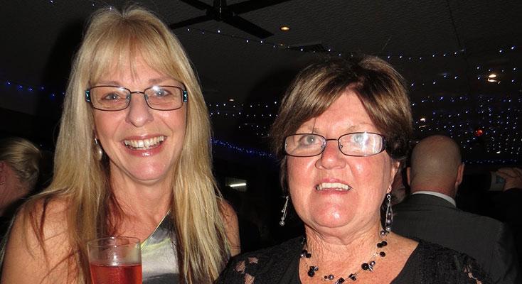 Karen Shultz and Di Stidolph enjoy the Ball.