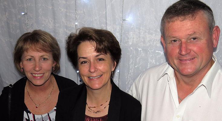 Lynette Shultz, Teresa and David Mort.