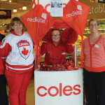 Medowie Coles team going red for Redkite Day